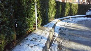 ghiaccio strade sagnino