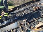 incendio tetto villetta via foscolo lurate