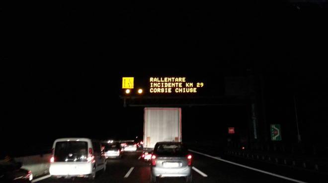 incidente autostrada a9 code