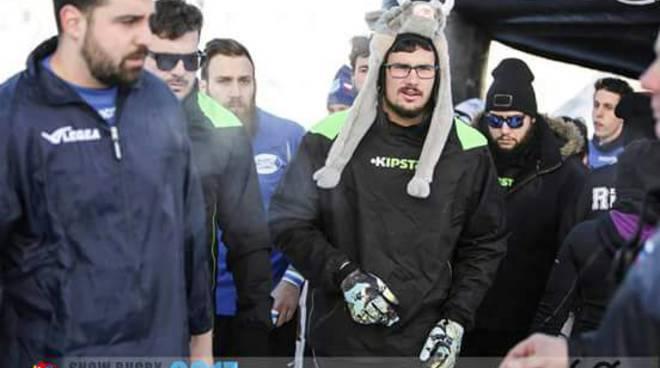 snow rugby ragazzi como protagonisti