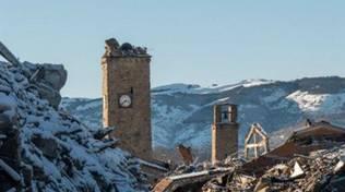 terremoto abruzzo con neve