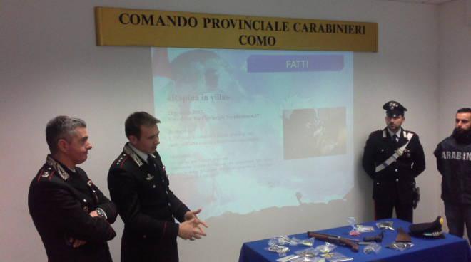 I carabinieri di Cantù fermano due bande di rapinatori