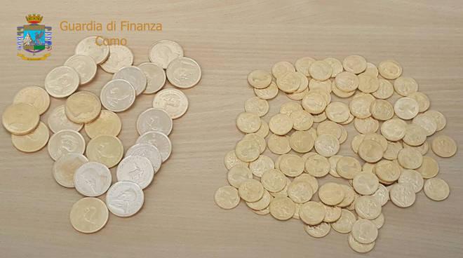 sequestro monete dogana chiasso stazione