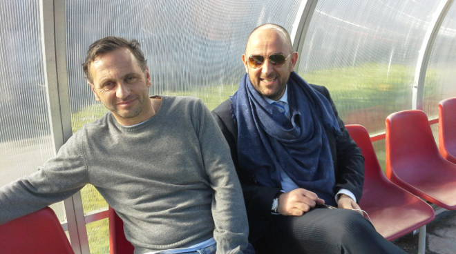 fabio gallo e diego foresti in panchina ad orsenigo