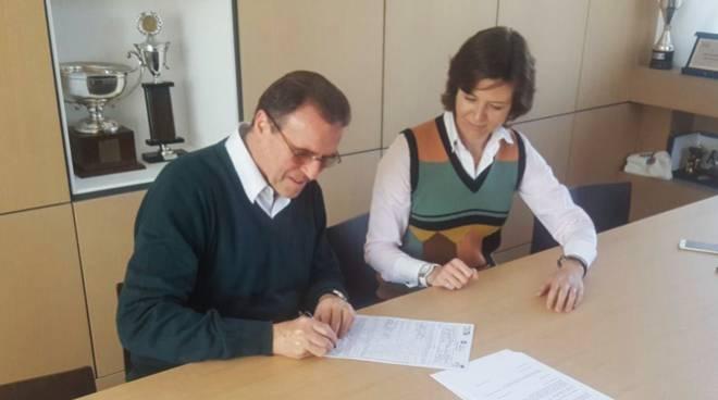 recalcati firma contratto con cantù e irina gerasimenko
