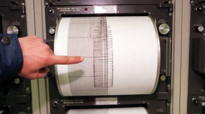 terremoto epicentro svizzera e sismografo