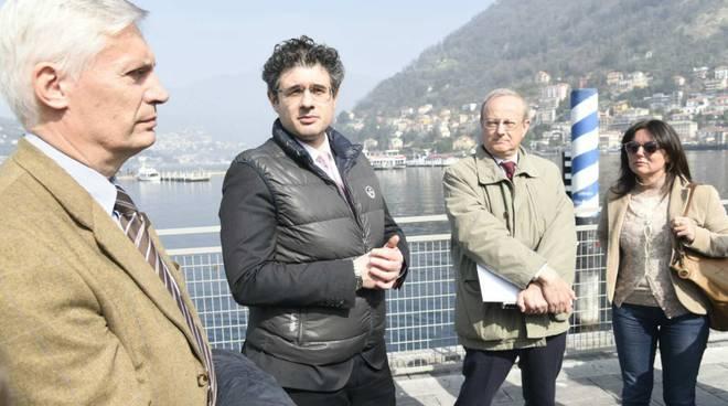 Visita della Regione al lungolago di Como: lavori assegnati