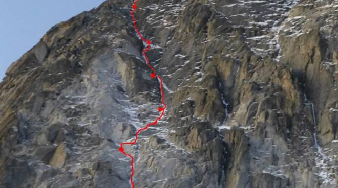 parete di roccia clean climb gruppo adamello elicottero 118 trentino