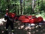 ragazzo ferito gamba in valbasca, soccorso da pompieri