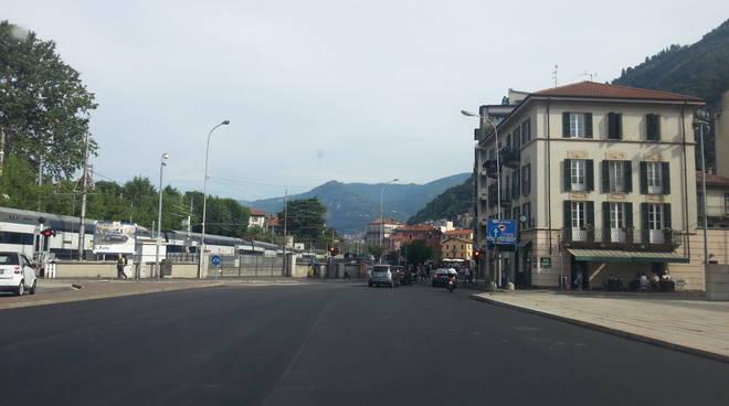 nuovo asfalto via dante e piazza del popolo como