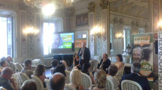 Walter Veltroni a Como per supportare Maurizio Traglio