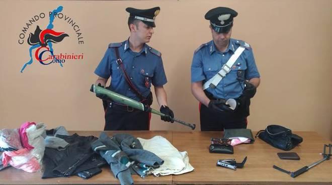 Furti su auto in sosta in Tremezzina arrestati da carabinieri di Menaggio