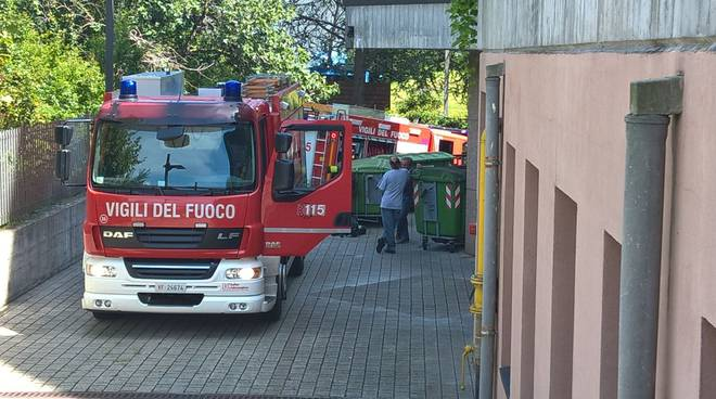 Incendio quadri elettrici Hotel Leonardo da Vinci Erba