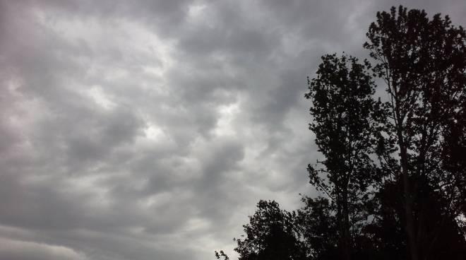 pioggia sul como