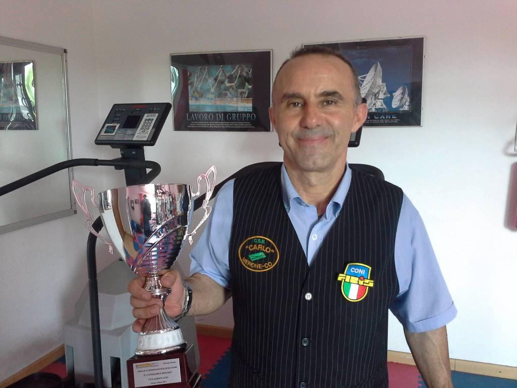 Roberto Matteri dal body Building al biliardo: campione d'Italia