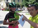 cristina tonetti scv bike cadorago ciclismo con suo tecnico
