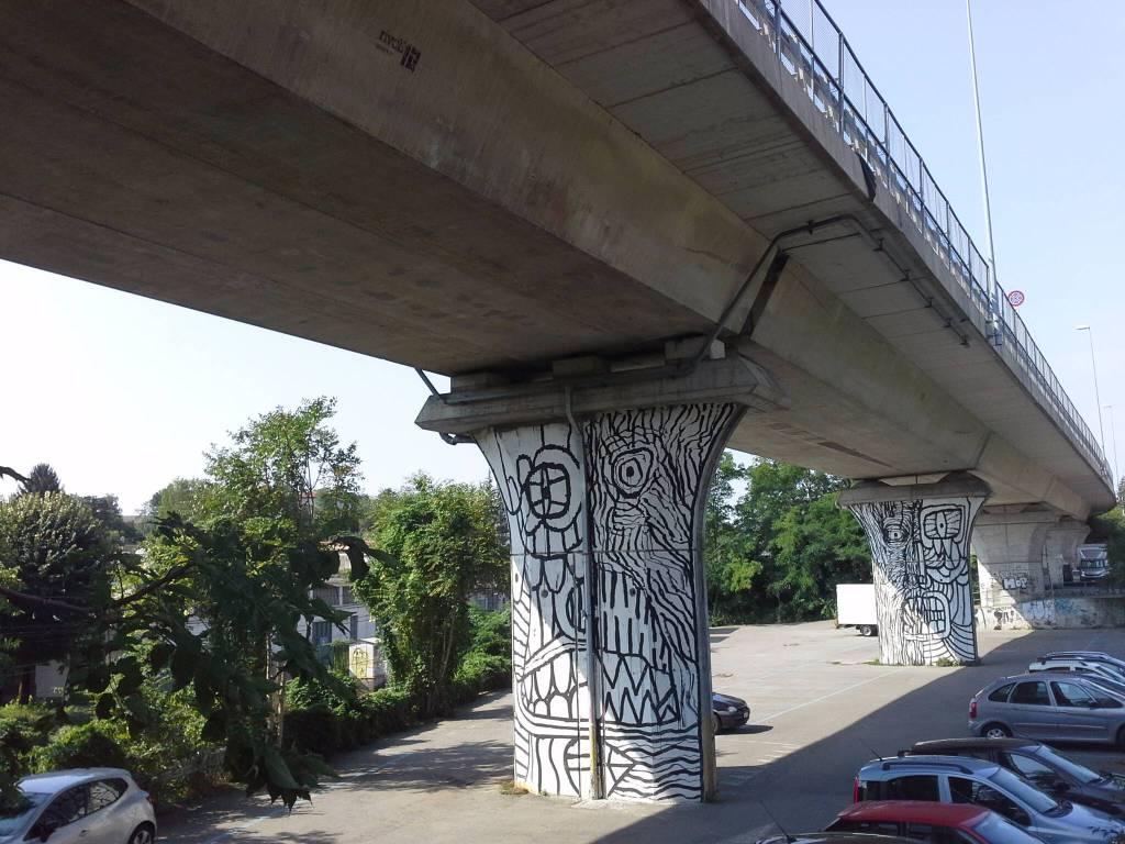I piloni del viadotto dei lavatoi da sistemare
