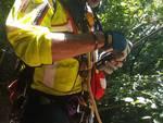 recupero escursionista olandese disperso bosco di pognana lario