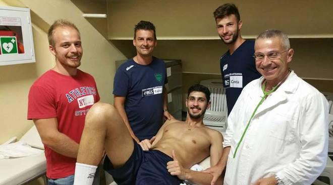 ricardoo brasiliano volley cantù visite e incontro con coach