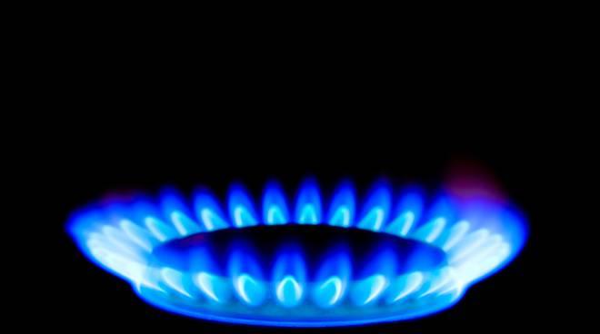 fiamma del gas erogazione gas como