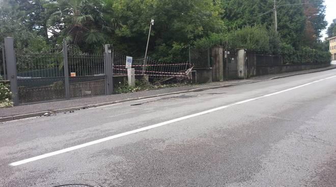 incidente mortale buccinigo di erba, auto contro il muro