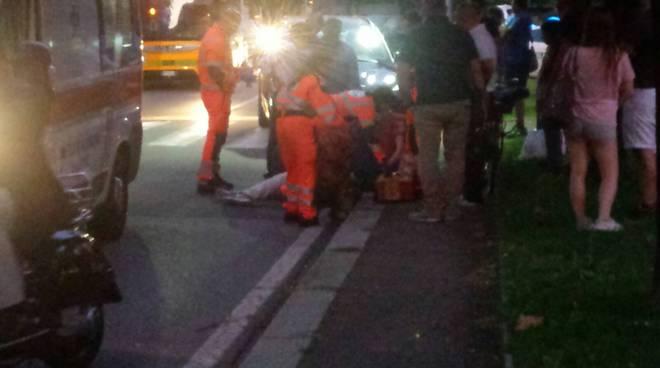 investimento viale giulio cesare a Como soccorsi ambulanza