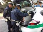 Blocco traffico a Cantù, controlli della polizia locale