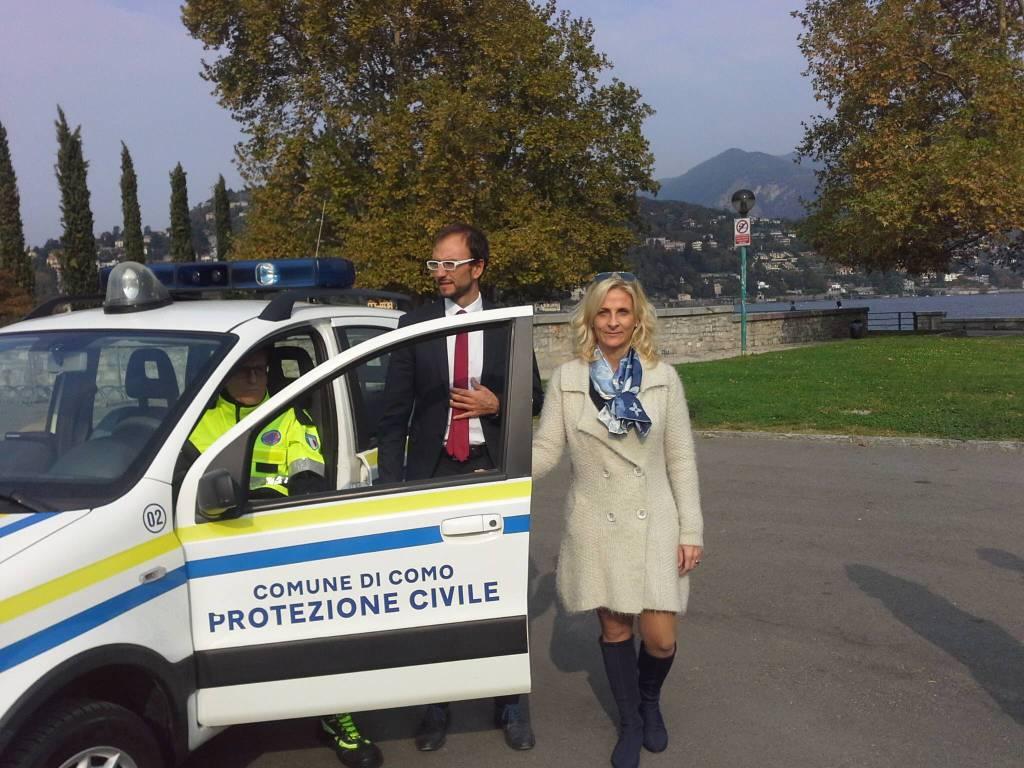 Già operativi i volontari della Protezione civile di Como