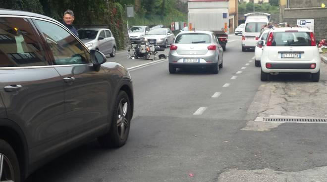 incidente auto-moto statale per lecco a lora