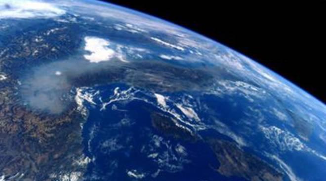 paolo nespoli e smog visto dallo spazio