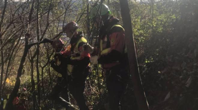 recupero donna dispersa nel bosco sul cornizzolo soccorso alpino