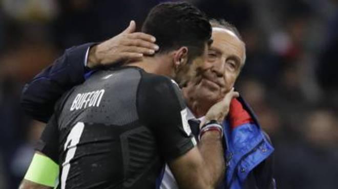 ventura e buffon san siro italia eliminata dai mondiali