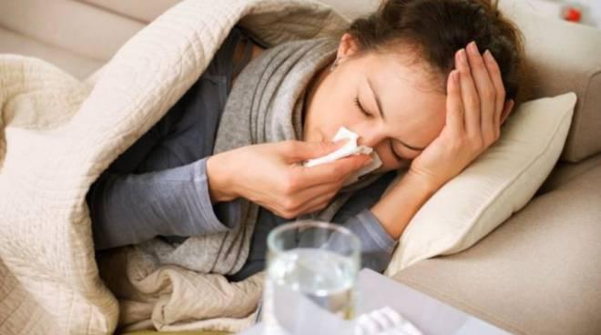 influenza in arrivo, tanti a letto generica ammalati e termometro