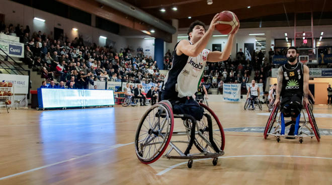 unipolsai briantea vince con Giulianova basket carrozzina