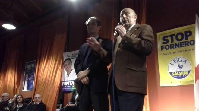A Camerlata il comizio pubblico di Attilio Fontana candidato del centrodestra per la Regione