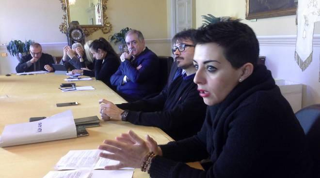 La conferenza stampa di inizio 2018 in comune a Como