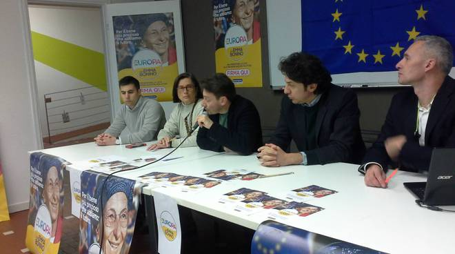 presentazione candidati como della lista +europa