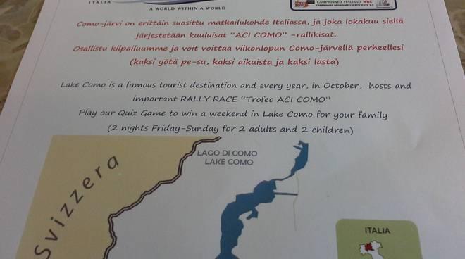 presentazione iniziative turistiche como finlandia comune a como