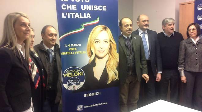 La presentazione dei candidati alle regionali per Fratelli d'Italia