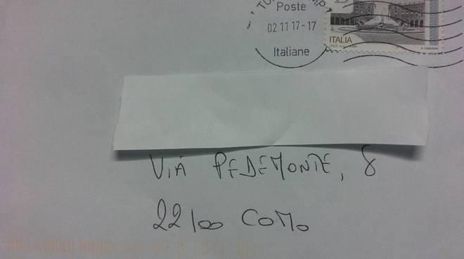 lettera lumaca da cuneo a como, tre mesi posta ordinaria in redazione il protagonista
