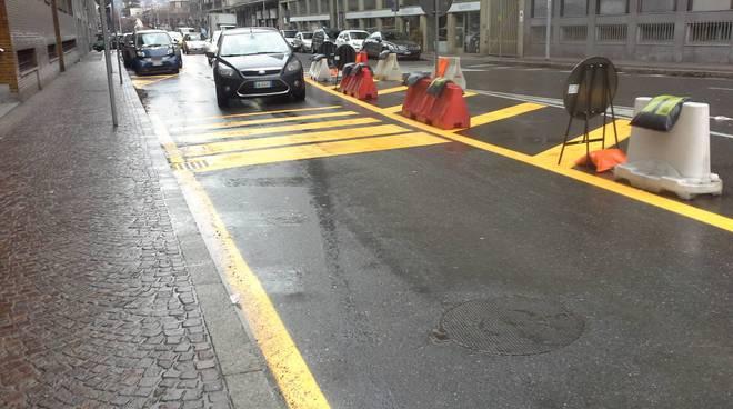 Viale Masia a Como, ecco la strettoia ed il limite per ridurre gli incidenti