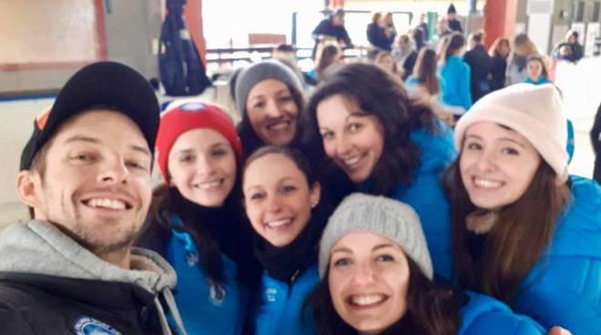 Anna Cappellini ed Ondrey Hotarek si allenano a Casate con i giovani Asga Como