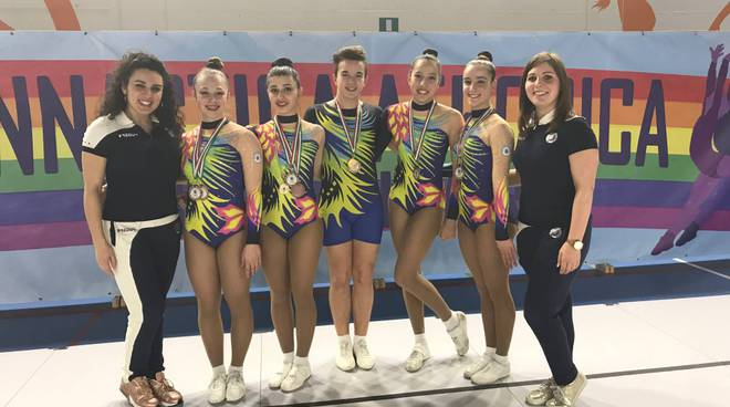 Campionato regionale ginnastica aerobica ad Olgiate: che spettacolo!!