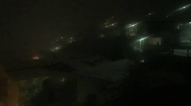 nevicata notte a como ed hinterland web cam