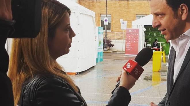alessandro nardone relatore al festival dei giovani di gaeta, intervista al tg 2