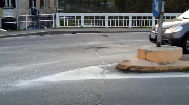 san martino strada ripulita dal gasolio circolazione regolare