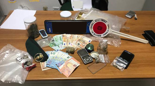 spaccio droga fino mornasco e casa vertemate, soldi e droga sequestrata finanza