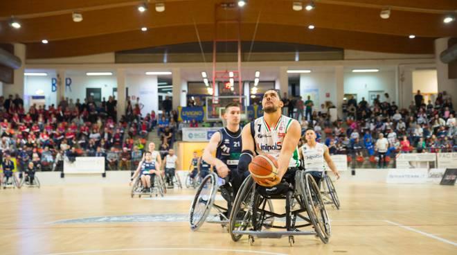 Unipolsai briantea basket carrozzina semifinale play-off con santa lucia