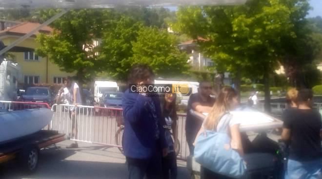 Alessandro Borghese all'hangar di Como per registrare puntata 4 ristoranti