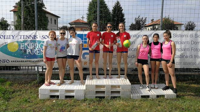 beach-volley under 14 prima tappa a cadorago podio